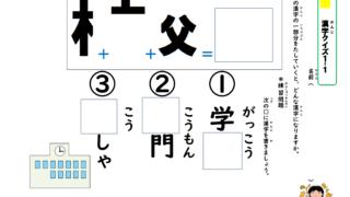 漢字分解クイズ