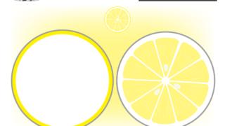 レモンのハサミとのりの練習プリント