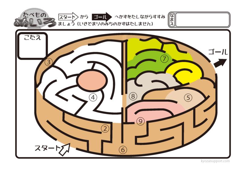 食べ物の迷路