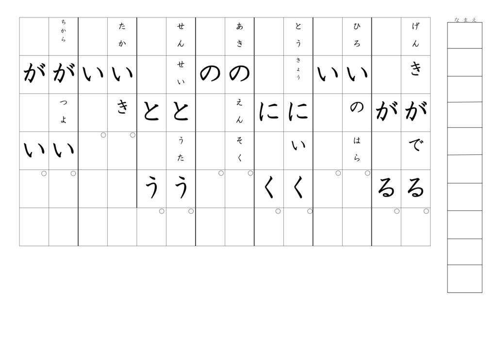 漢字書き取りプリント2年生07