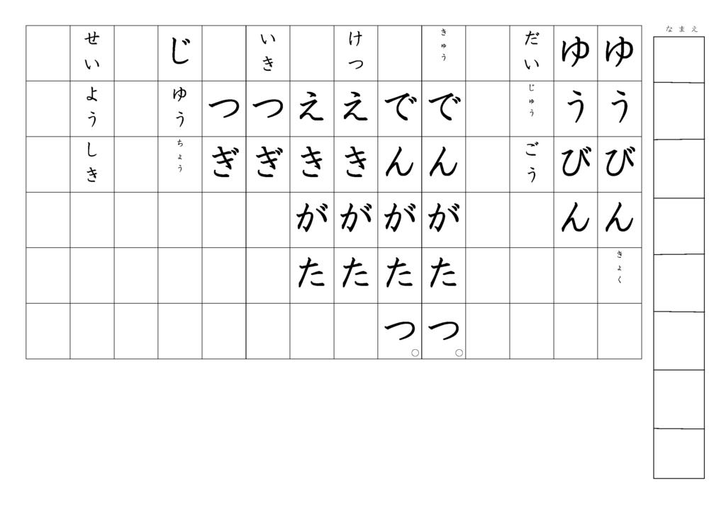 漢字書き取りプリント3年生22