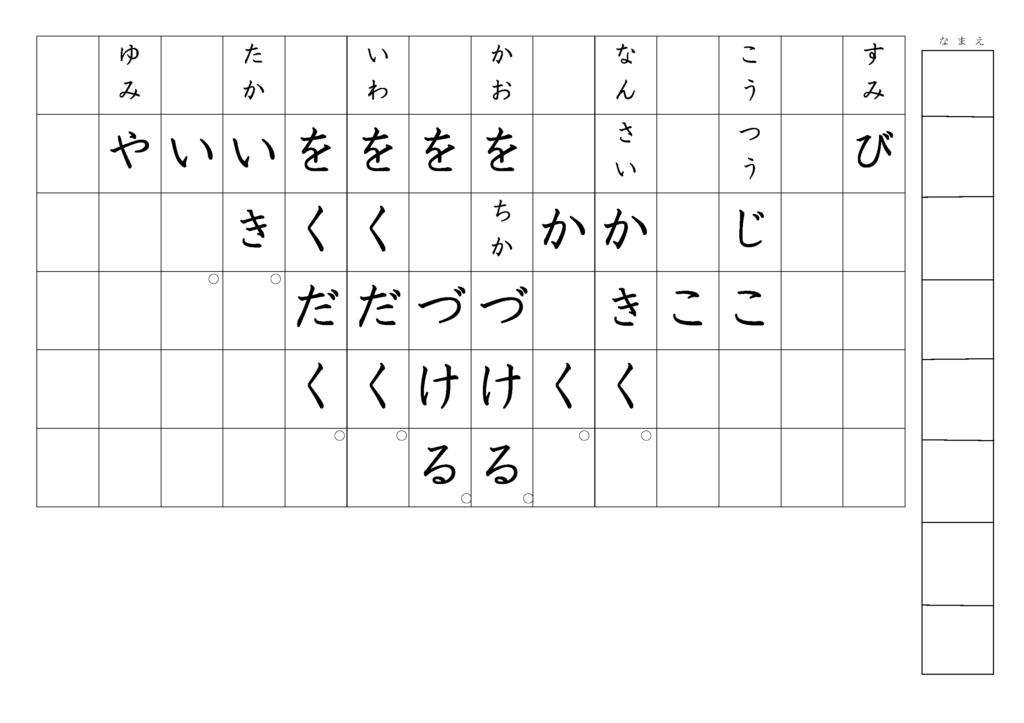漢字書き取りプリント3年生31